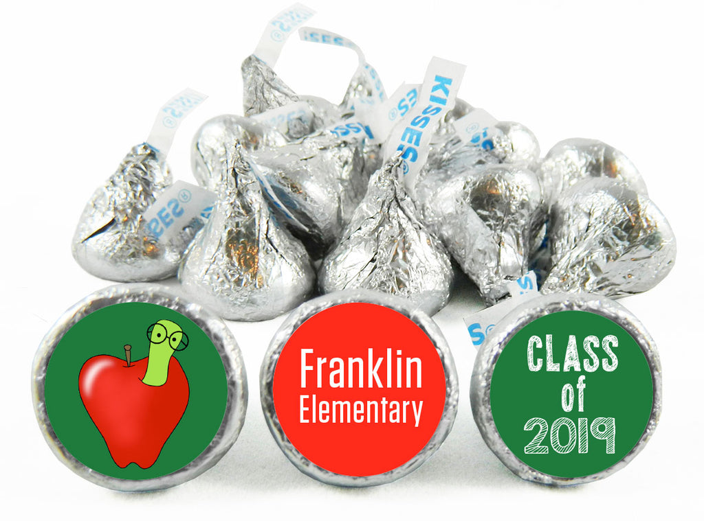 Apple Grad Elementary Graduation Labels for Hershey's Kisses