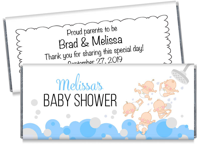 Showering Babies Baby Shower Candy Bar Wrappers