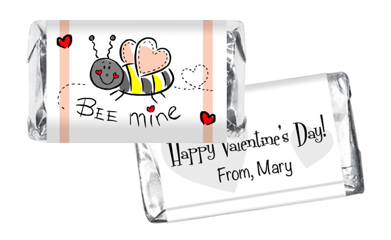 Bee Mine Valentine's Day Mini Bar Wrappers