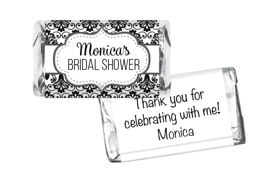 Paisley Bridal Shower Mini Bar Wrappers