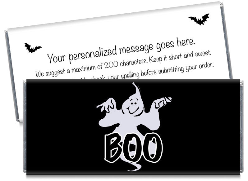 BOO Ghost Halloween Candy Bar Wrappers
