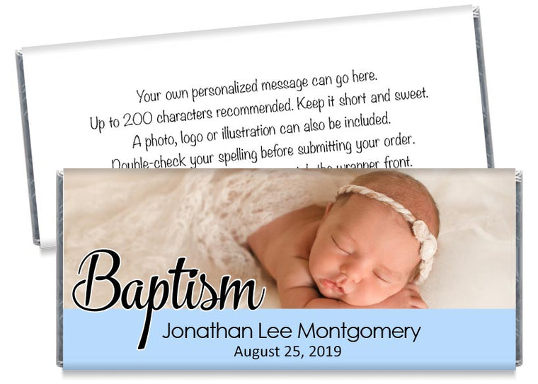 Boy Photo Baptism Candy Bar Wrappers