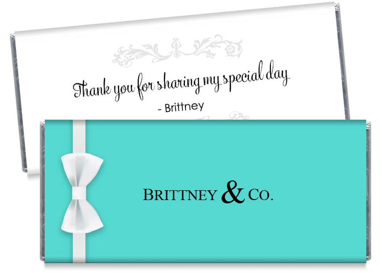 Bride & Co Wedding or Bridal Shower Candy Bar Wrappers