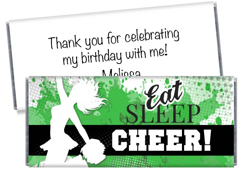 Cheer Birthday Party Candy Bar Wrappers