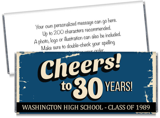 Cheers! School Reunion Candy Bar Wrappers