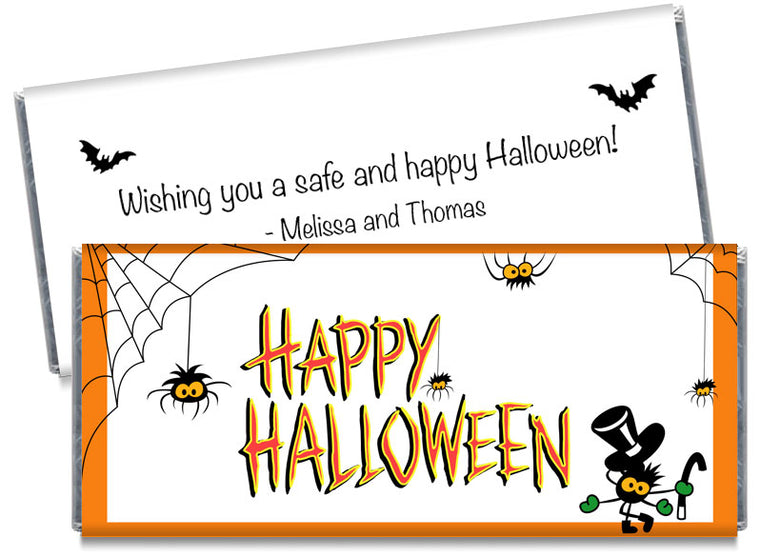 Dancing Spiders Halloween Candy Bar Wrappers