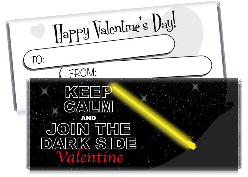Join the Dark Side Valentine's Day Candy Bar Wrappers