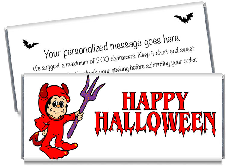 Little Devil Halloween Candy Bar Wrappers