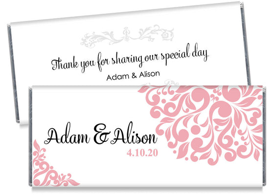 Elegant Floral Wedding Candy Bar Wrappers