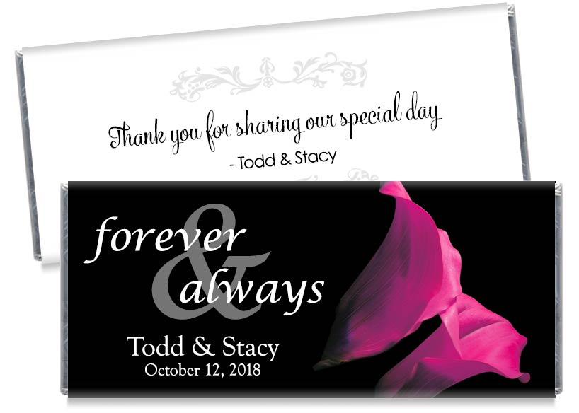 Forever and Always Yellow Tulips Wedding Candy Bar Wrappers