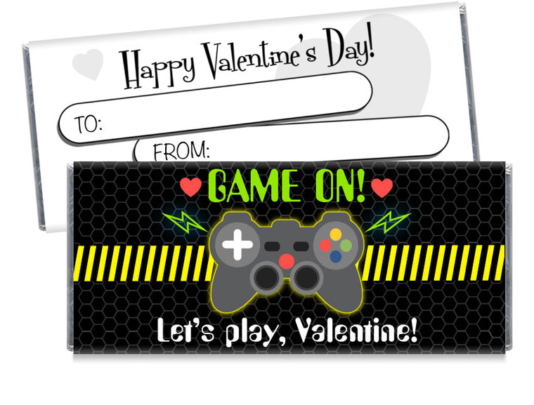 Game On Valentine's Day Candy Bar Wrappers