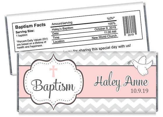 Dove Girl Baptism Candy Bar Wrappers