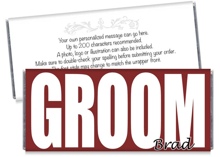 GROOM Wedding Candy Bar Wrappers
