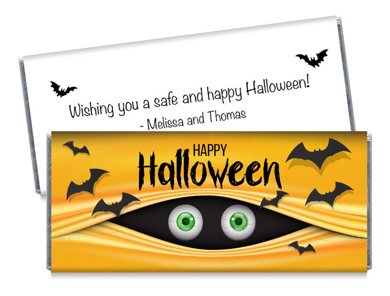 Peeking Eyeballs Halloween Candy Bar Wrappers
