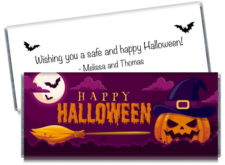 Haunted Pumpkin Halloween Candy Bar Wrappers