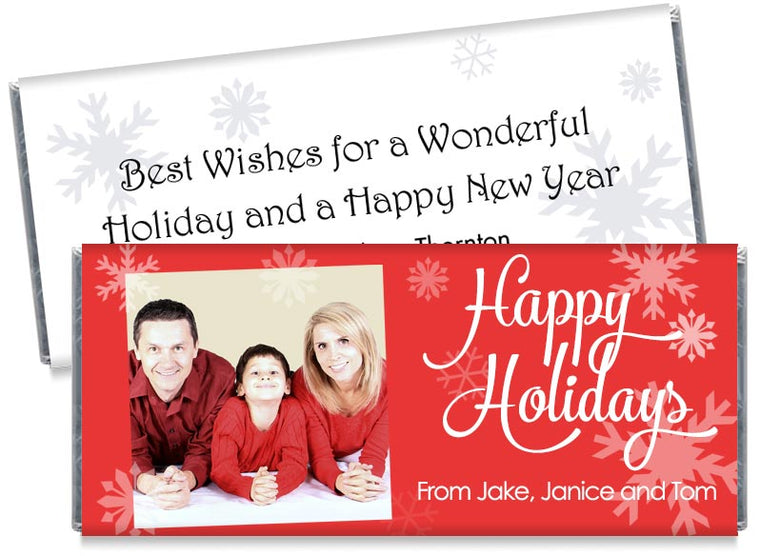 Happy Holidays with Photo Candy Bar Wrappers