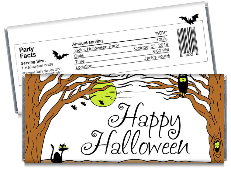 Haunted Forest Halloween Candy Bar Wrappers
