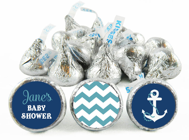 Nautical Baby Shower Labels for Hershey's Kisses