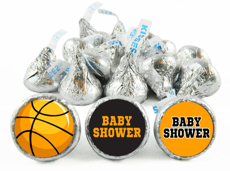 Basketball Baby Shower Labels for Hershey's Kisses