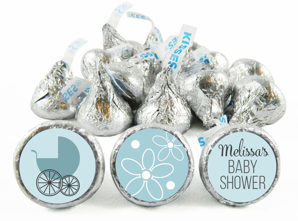 Baby Carriage Baby Shower Labels for Hershey's Kisses