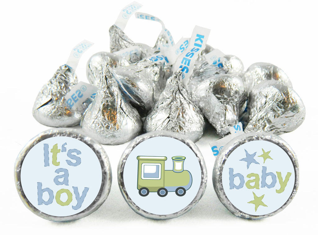 Baby Train Baby Shower Labels for Hershey's Kisses