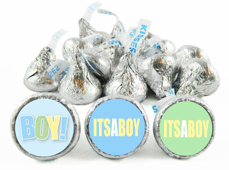 It's a Boy! Baby Shower Labels for Hershey's Kisses