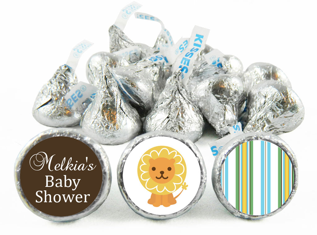 King of the Jungle Baby Shower Labels for Hershey's Kisses
