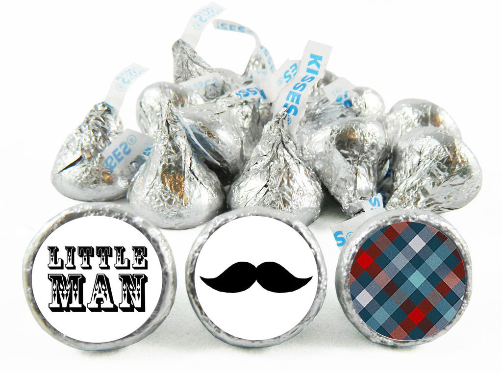 Little Man Baby Shower Labels for Hershey's Kisses