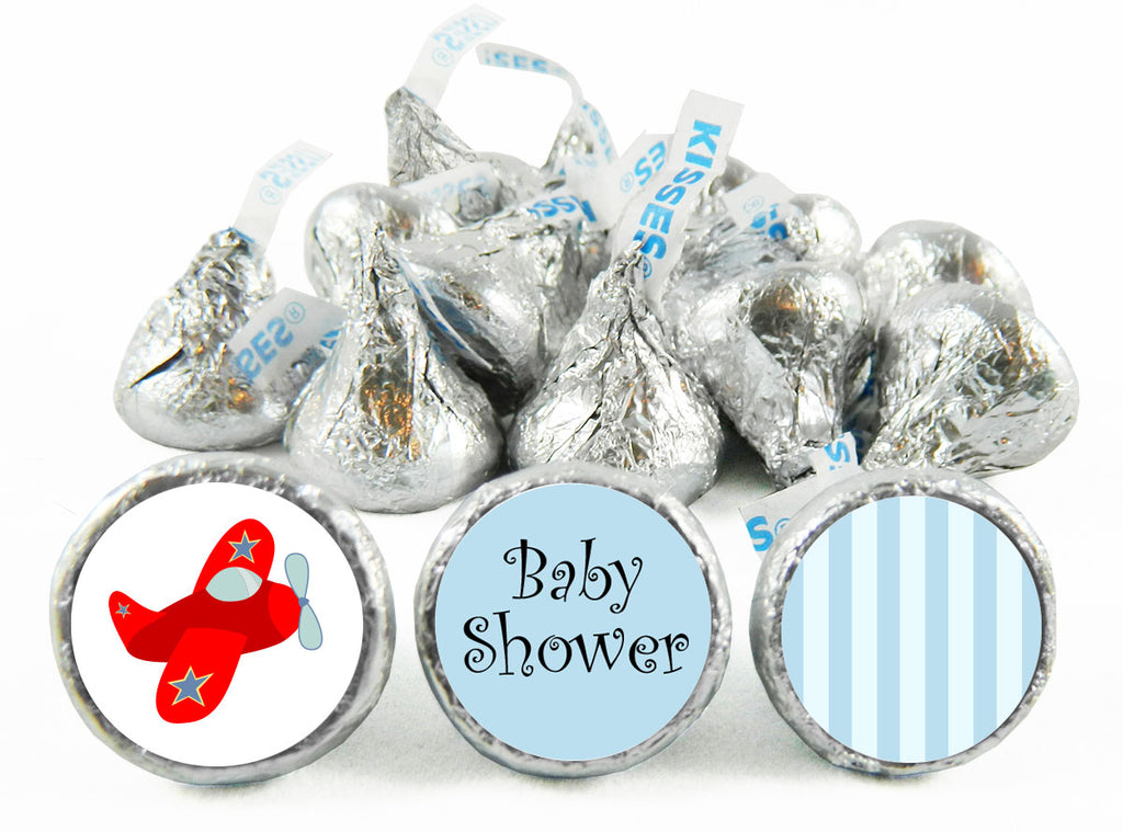 Plane Baby Shower Labels for Hershey's Kisses