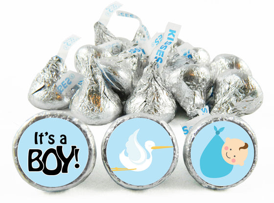 Stork Baby Shower Labels for Hershey's Kisses