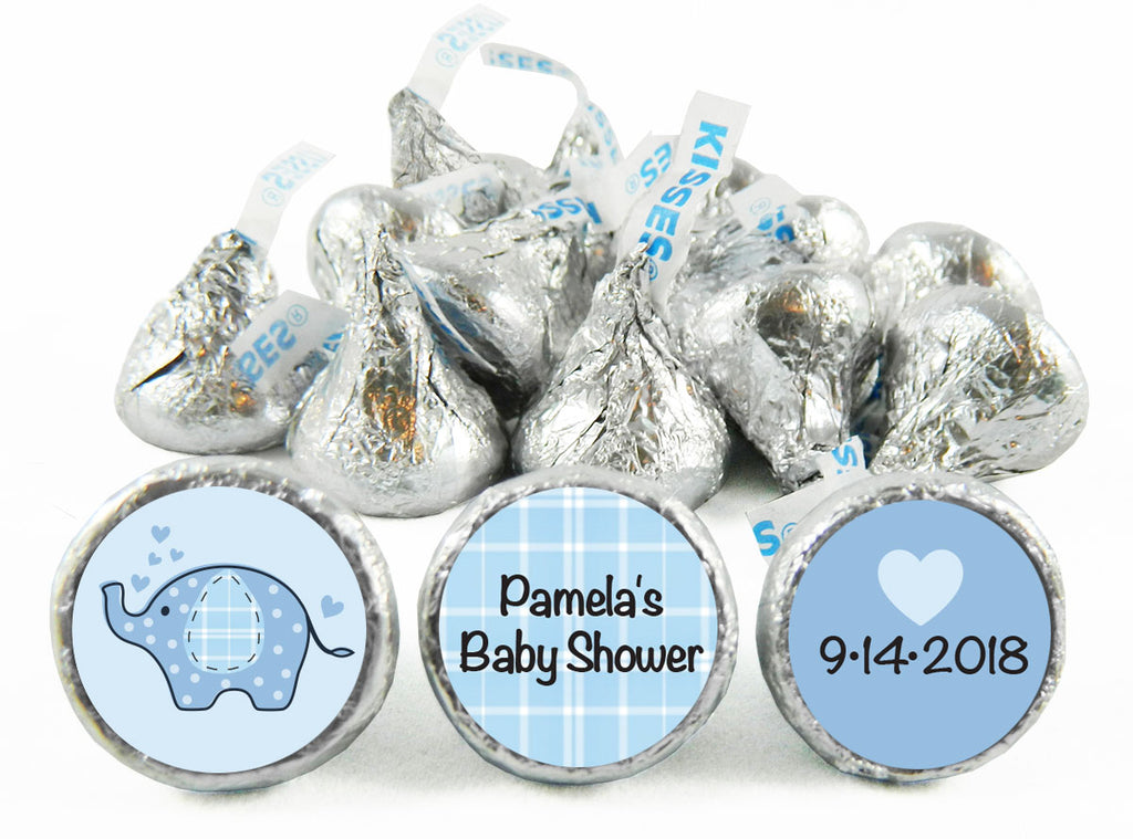 Umbrellaphants Baby Shower Labels for Hershey's Kisses