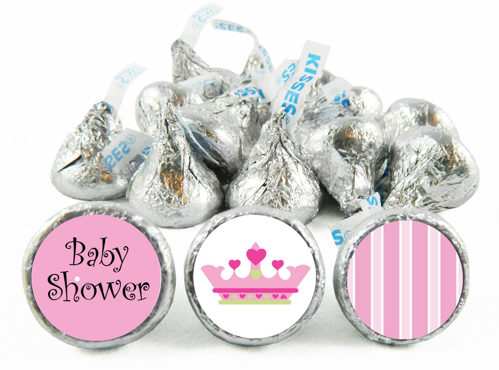 Little Princess Girl Baby Shower Labels for Hershey's Kisses