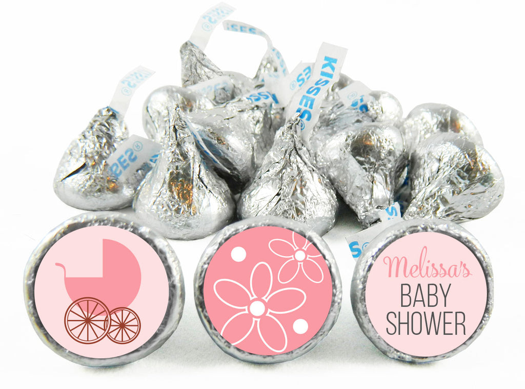 Carriage Girl Baby Shower Labels for Hershey's Kisses
