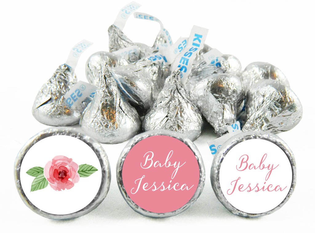 Script Girl Baby Shower Labels for Hershey's Kisses