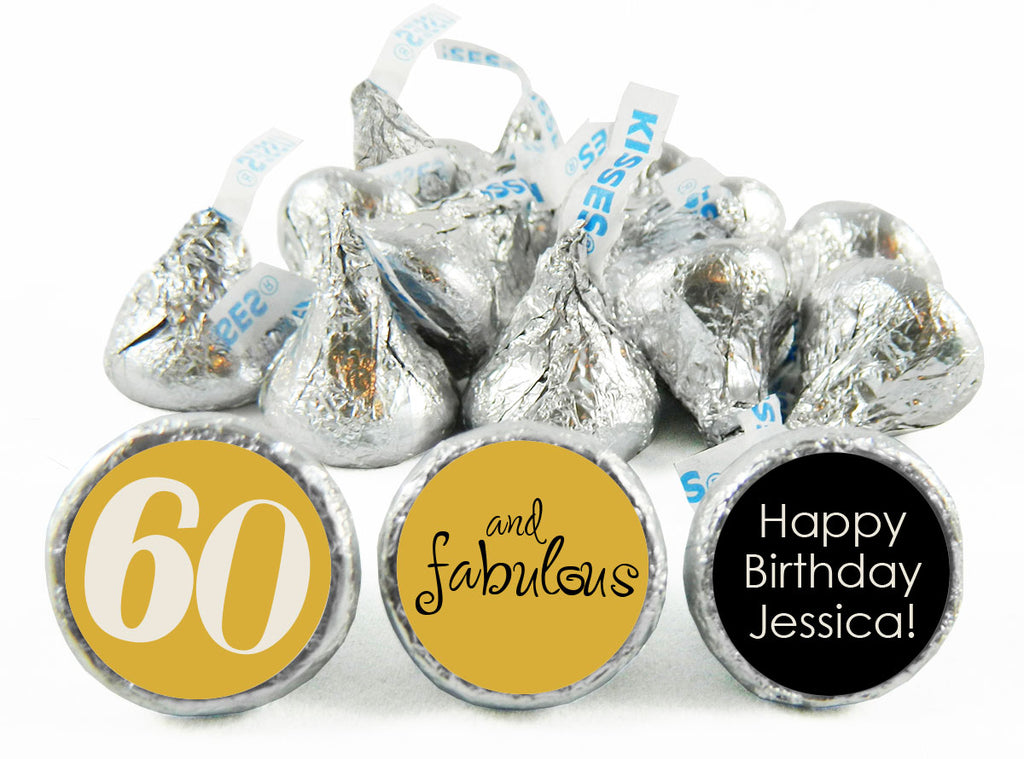 Fabulous Adult Birthday Party Labels for Hershey's Kisses