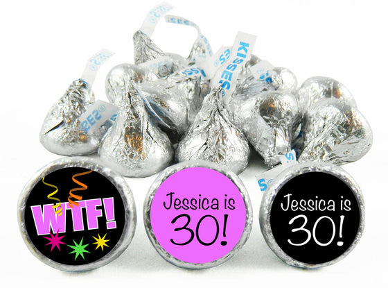 WTF Adult Birthday Party Labels for Hershey's Kisses