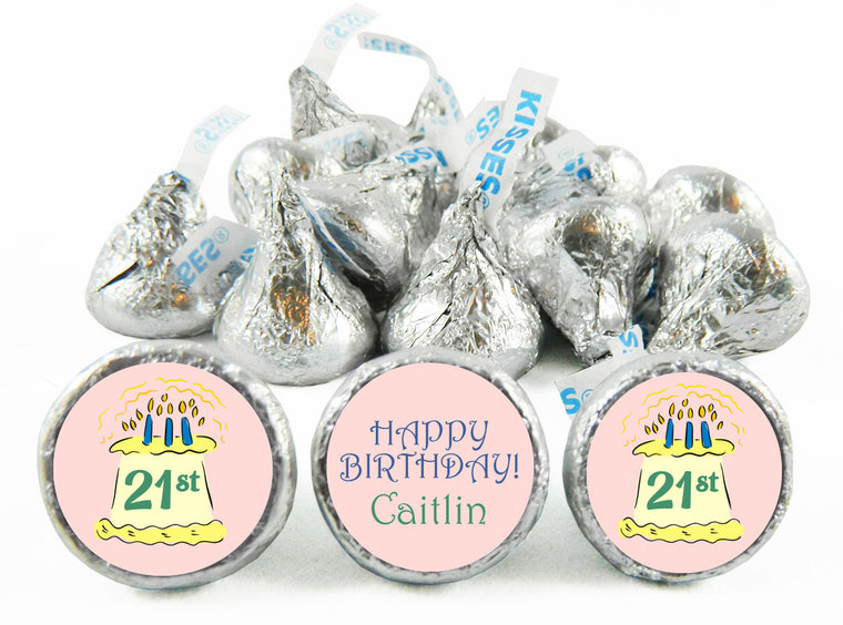 Cake Adult Birthday Party Labels for Hershey's Kisses
