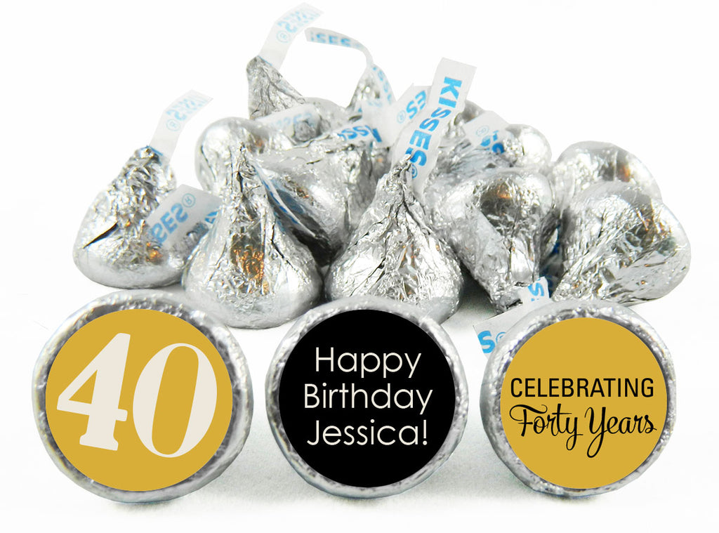 Celebrating a Milestone! Adult Birthday Party Labels for Hershey's Kisses