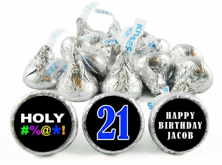 HOLY Bleep! Adult Birthday Party Labels for Hershey's Kisses