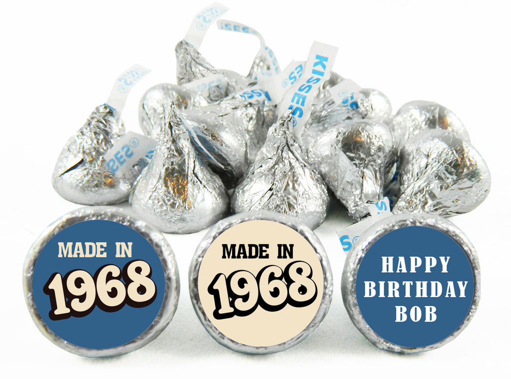 Made In Adult Birthday Party Labels for Hershey's Kisses