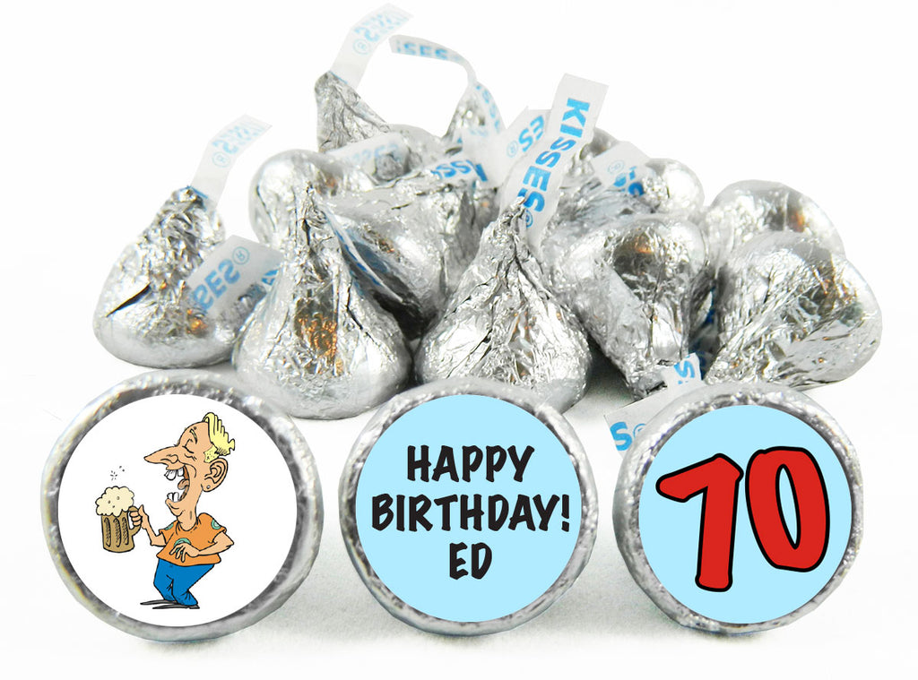 Time for Beer! Adult Birthday Party Labels for Hershey's Kisses