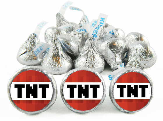 TNT Birthday Party Labels for Hershey's Kisses