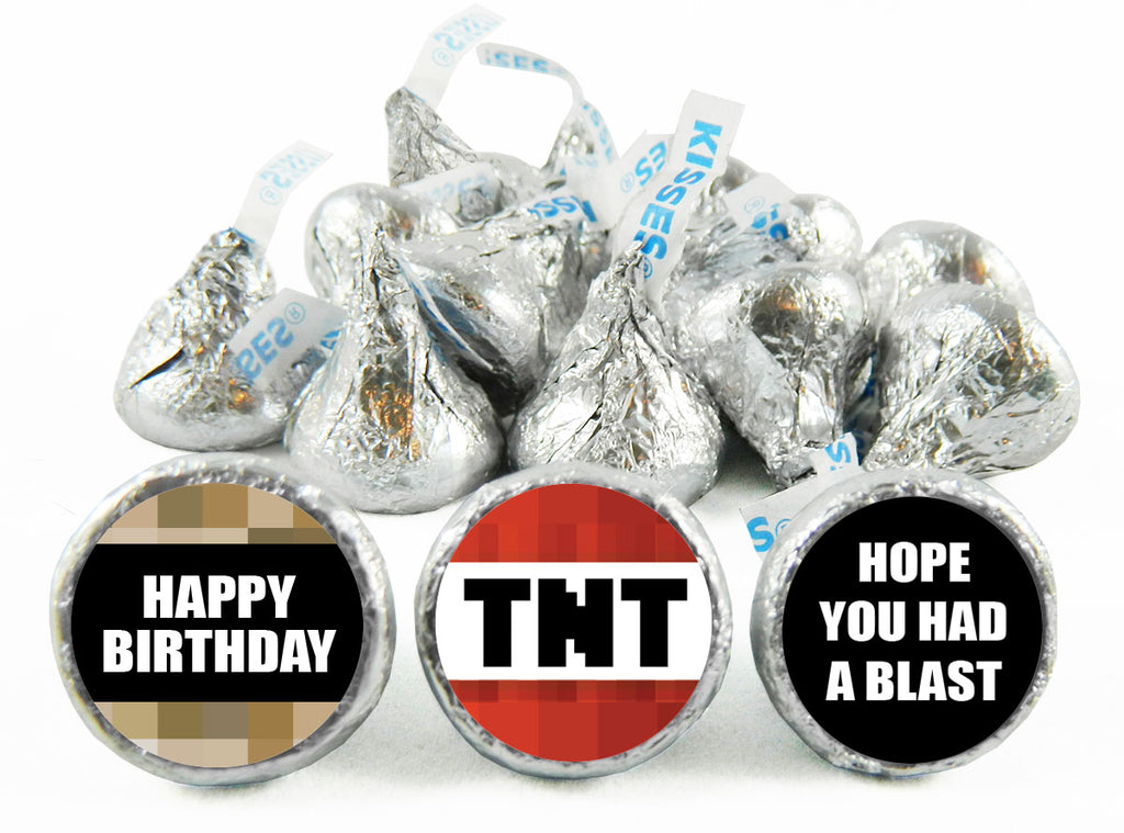 Hope You Had a Blast TNT Birthday Party Labels for Hershey's Kisses