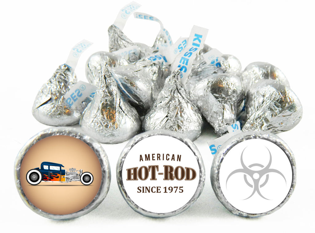 Hot-Rod Race Car Birthday Party Labels for Hershey's Kisses