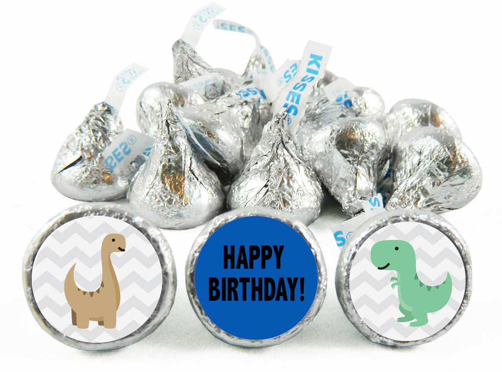 Dinosaur Birthday Party Labels for Hershey's Kisses