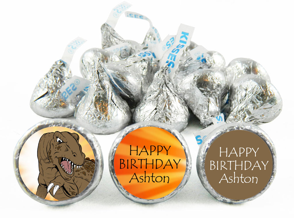 T-Rex Dinosaur Birthday Party Labels for Hershey's Kisses