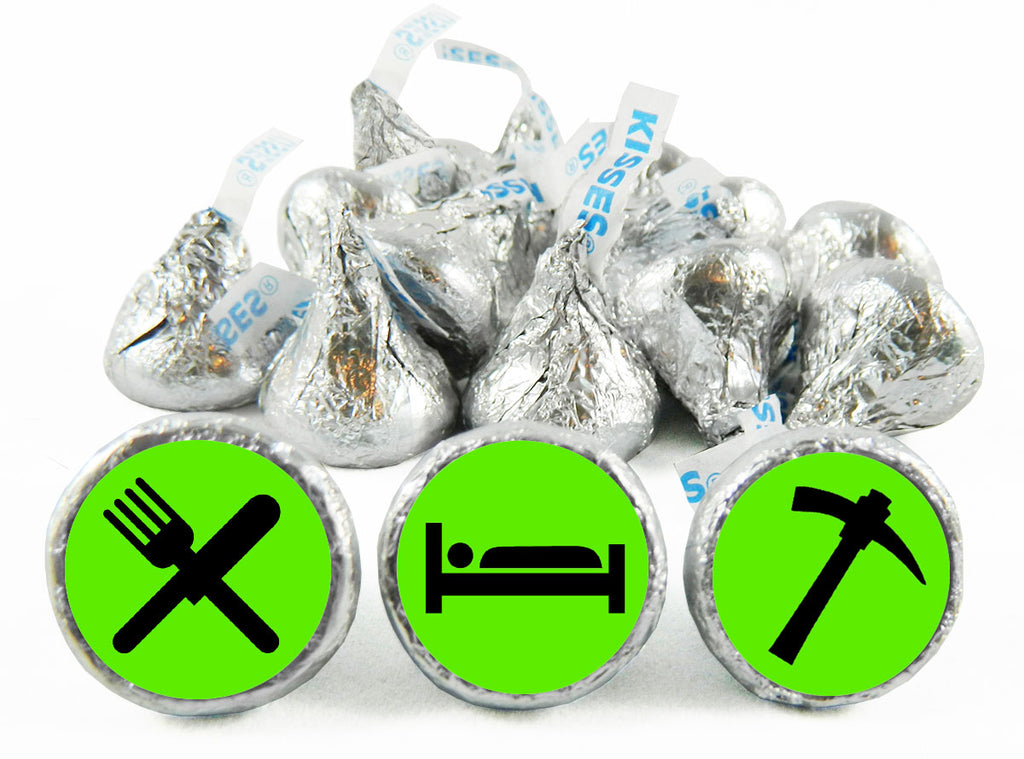 Eat Sleep Mine Birthday Party Labels for Hershey's Kisses