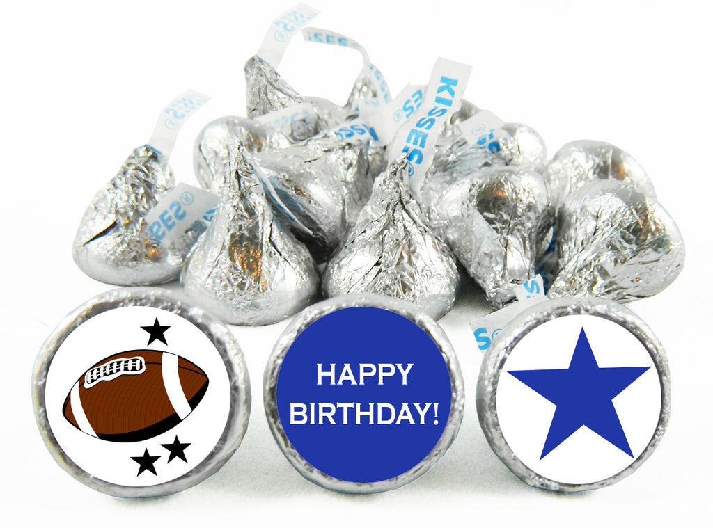 Star Football Birthday Party Labels for Hershey's Kisses