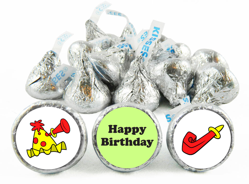 Party Hat Birthday Party Labels for Hershey's Kisses