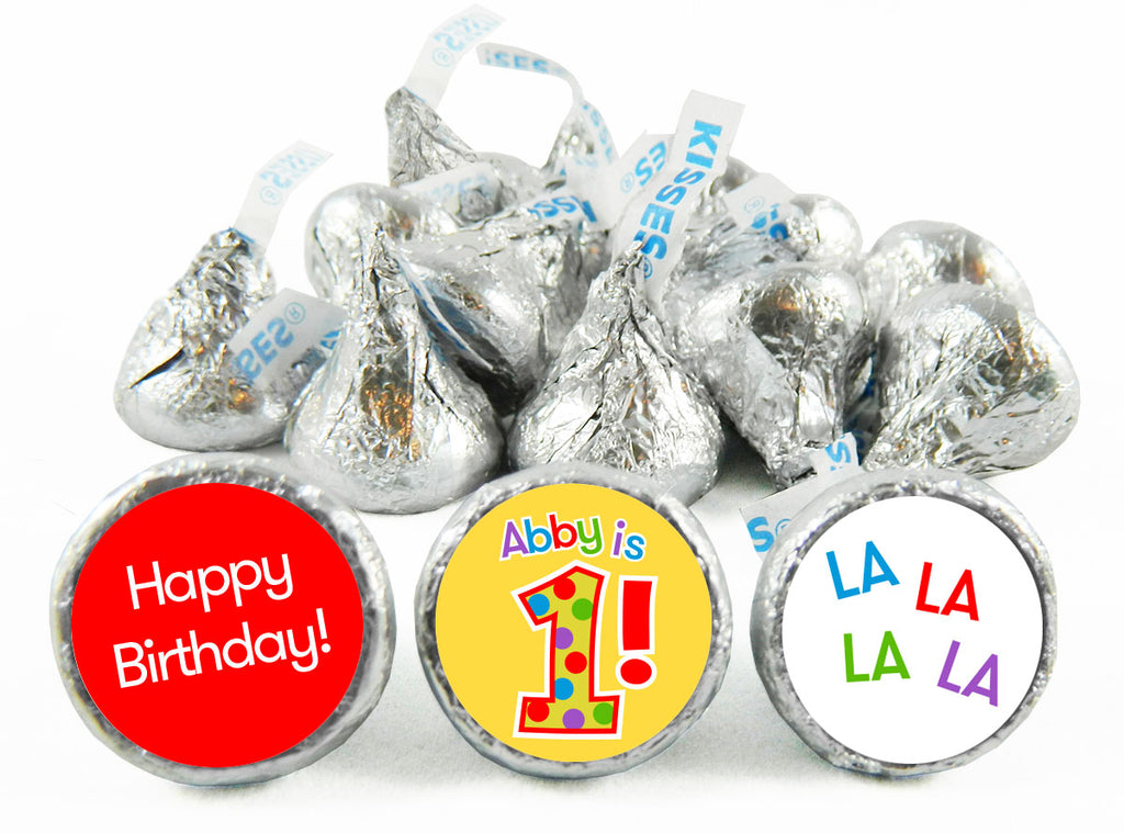1st Birthday Party Labels for Hershey's Kisses